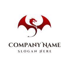 Dragon Medieval, Celtic Dragon, Red Dragon Tattoo, Dragon Tattoo Designs, Custom Logo Design, Custom Logos, Graphic Design, Dragon Icon, Online Logo