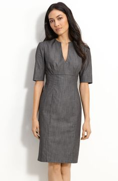 Calvin Klein Stretch Cotton Sheath Dress available at Simple Dresses, Casual Dresses, Fashion Dresses, Dresses For Work, Sheath Dress, Dress Skirt, Calvin Klein Dress, Office Outfits, Classy Dress