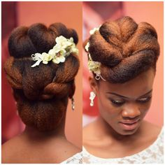 Bridal hair by / hair coloured by using L'Oréal professional colours. Wedding Tiara Hairstyles, Natural Wedding Hairstyles, Bride Hairstyles, Kinky Hairstyles, Natural Hair Wedding, Wedding Hair And Makeup, Bridal Hair, Natural Hair Twists, Natural Hair Updo