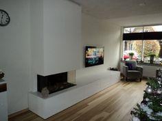 Haarden met meubels en tv