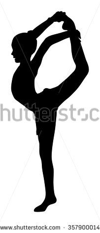 Vector Download » Athlete woman in gym exercise. Ballet girl vector figure isolated on white background. Black silhouette illustration of gymnastic woman.