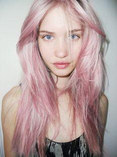 Pale pink pastel hair