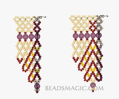 Free pattern for beaded necklace Sandal U need: seed beads 11/0 round beads 4 mm