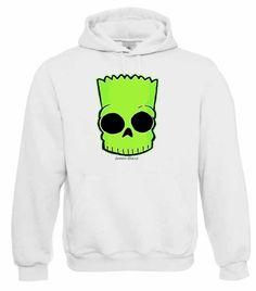"""Kapuzen Sweatshirt """"Neon Bart"""" Fruit of the Loom, Beuteltasche, 80% Baumwolle"""
