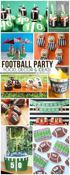 DIY Football Party Ideas Perfect for Team Parties, Birthdays and SUPER BOWL! - landeelu.com
