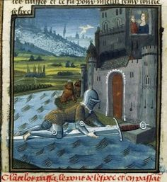 Lancelot passant le Pont de l'Epée