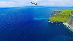 #featured @matttothesky.  Killer spot high above the coast line  but not alone.  #cliffsofmoher #drone #dji #phantom3 #aerialview #high #highlife #coast #spacecitydrones #blue #sea #ireland #clare #westcoast #wildatlanticway #discoverireland #tourismireland #sky #photography