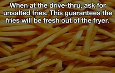 Fries Hack When at The drve-thru