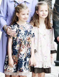 onemoreblogaboutroyals:  Infanta Sofia and Infanta Leonor, April 20, 2014