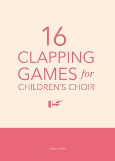 Hands: 16 Clapping Games for Children's Choir 16 fun hand-clapping games for children's choir - great for a gathering activity or quick change-of-pace in the middle of rehearsal! Movement Activities, Music Activities, Music Games For Kids, Preschool Music Lessons, Kindergarten Music, Singing Lessons, Singing Tips, Physical Activities, Elementary Choir