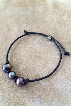 Multi Dark Pearl Bracelet