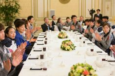 at a meeting with the President of Korea