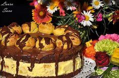 Tort Profiterol   Retete culinare cu Laura Sava - Cele mai bune retete pentru intreaga familie Mousse, Something Sweet, Nutella, Great Recipes, Bacon, Food And Drink, Birthday Cake, Ice Cream, Cookies