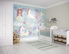 unicorn ohpopsi bedroom murals mural magic nursery magical decals