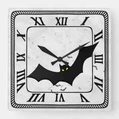Halloween: Bat Silhouettes White Square Grunge BG Square Wall Clock movies halloween, halloween broomsticks, halloween recepies #sweets #halloween365 #halloweenallyearlong, back to school, aesthetic wallpaper, y2k fashion Halloween Bats, Diy Halloween Decorations, Halloween Christmas, Christmas Decorations, Bat Silhouette, Fall Wallpaper, Halloween Activities, Aesthetic Wallpapers, Silhouettes