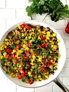 Mexican Breakfast Tacos Yummy Veggie, Veggie Recipes, Whole Food Recipes, Vegetarian Recipes, Healthy Recipes, High Protein Recipes, Vegan Breakfast Recipes, Brunch Recipes, Dinner Recipes
