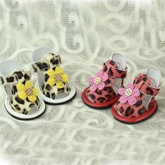 PU Leather Leopard Printed Pet Dog Puppy Sandal Breathable Anti Slip Shoes Boots in Pet Supplies | eBay
