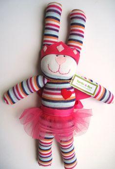 Sock Bunny  Princess Hoppy by TurtleandRye on Etsy, $35.00