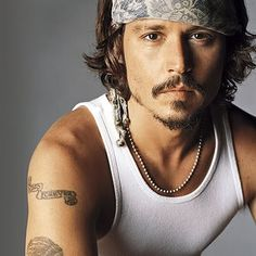 Johnny Depp.    LOVE facial hair!