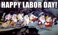 Snow White and the Seven Dwarfs getting in on the Labor Day fun. Description…