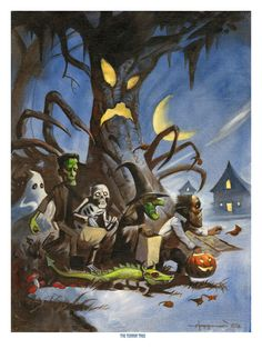 Mike Hoffman Spooky Trick or Treat Print HALLOWEEN by mikehoffman, $9.95