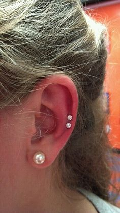 Ear Piercing Ideas For Females Except the second one down is . - Fast Rast - Ear Piercing Ideas For Females Except the second one down is . Ear Piercing Ideas For Females Except the second one down is a snug. Ear Piercing Ideas For Guys Smiley Piercing, Mid Cartilage Piercing, Ear Peircings, Cool Ear Piercings, Cartilage Earrings, Septum Piercings, Stud Earrings, Piercing Types, Cute Cartilage Piercing