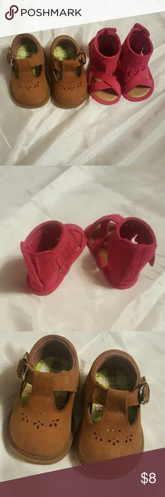 Size 1 Baby girl crib shoes Never worn. Shoes Baby & Walker