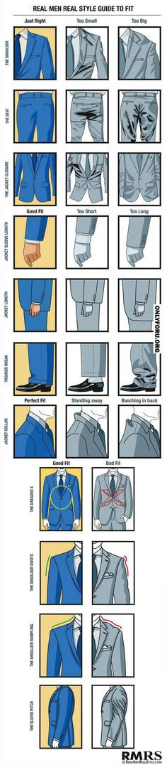 Wearing a suit that fits -lol good to know