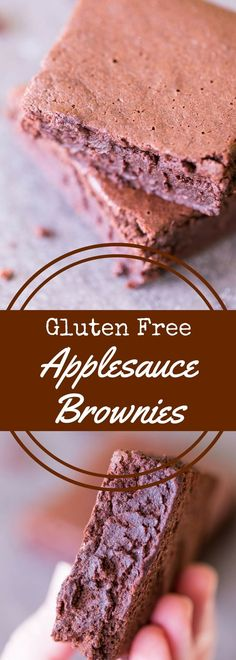 Gluten free applesauce brownies are better-for-you brownies that swap applesauce for butter. They are completely gluten free, dairy free, and delicious! via @recipeforperfec sponsored by @bobsredmill #glutenfree #dairyfree