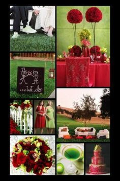 Inspiration 46:  Not Just for Christmas Anymore | red and green wedding