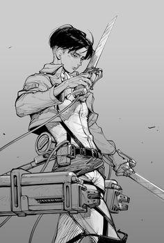 Get attack on titan levi HD Wallpaper [] imuquf-wall. Eren E Levi, Levi And Erwin, Levi Titan, Attack On Titan Fanart, Attack On Titan Anime, Attack On Titan Season, Ereri, Cute Anime Boy, Anime Girls