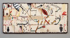 "Pat Williams (USA), ""Bugs on Parade,"" 18"" x 38.5"" woven tapestry, ATB 8"
