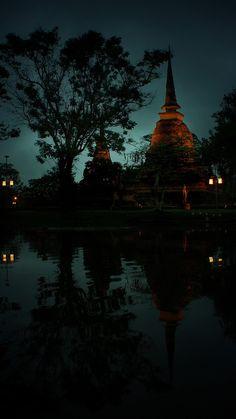 Sa Si Temple at Sukhothai Historical Park Thailand