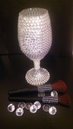 Makeup brush bling by MsDonnaDesigns on Etsy