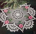 Vintage Crochet PATTERN Irish Rose Flower Doily Motif
