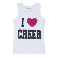 "Girls Boutique Clothing ""I Love Cheer "" Glitter Tank Top-Girls Dance Clothes-""Designer Girls Clothes-Unique Clothes For Toddlers on Etsy, $36.00"
