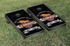 Cal State Dominguez Hills Toros Rustic Established Banner Cornhole Game