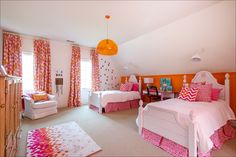 BIRMINGHAM HOMES•BIRMINGHAM LIVING•HEATHER DURHAM PHOTOGRAPHY•HOME DESIGN• HOME DETAILS•HOME INSPIRATION•INTERIOR DESIGN•INTERIORS•INTERIORS PHOTOGRAPHY•SHEA BRYERS DESIGN•TEEN GIRL BEDROOM•TWEEN GIRL BEDROOM•TWIN CONSTRUCTION•ORANGE AND PINK GIRLS BEDROOM•BOLD COLORS GIRLS BEDROOM•MONOGRAM HEADBOARD•GIRLS ROOM DECOR