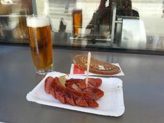 Bitzinger Wurstelstand Albertina: Sausage stand located by State Opera (try:Leberkase semmel-warm meatloaf in white roll) Restaurant, Comfort Foods, Meatloaf, Vienna, Hot Dogs, Austria, Waffles, Sausage, Opera