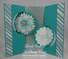 Circle Card Double Flip by Glenda Calkins - Cards and Paper Crafts at Splitcoaststampers