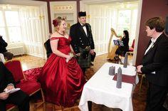 Red Wedding Dress in Ireland - http://www.availco.com/red-wedding-dress-ball-gown-audra-style/ - #red #wedding #dress #redweddingdress #gothic #gothicweddingdress #gothicwedding #irelandwedding #pleated #pleats #ballgown #redfashion #reddress #offshoulder #corset