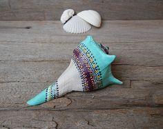 conjunto de arte de pintura natural conchas dot por prayerfeather