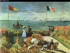 Claude Monet Terrace at St Adresse