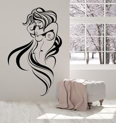 Vinyl Wall Decal Sexy Hot Naked Woman Breast Beautiful Body Stickers (1710ig)