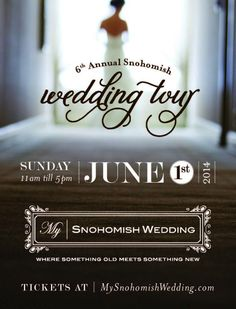 Planning event in 2014-15? Join Grand Event Rentals at the Snohomish Wedding Tour on June 1st - www.grandeventrentalswa.com