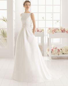 MIA vestido de novia  en pique encaje y pedreria.
