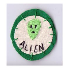 Alien Patch ($12) ❤ liked on Polyvore featuring patches