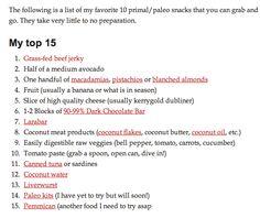 Top 15 Paleo Snack
