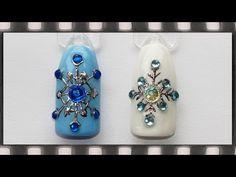 Литье Снежинка на ногтях. Новогодний маникюр. Гель лак дизайн. Snowflake Nail Art - YouTube