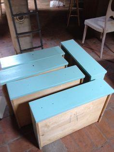 cassettiera blue tiffany, work in progress